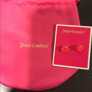 Juicy Couture brand new hot pink earrings